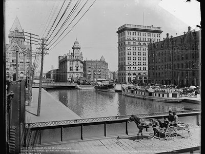 The Erie Canal in Syracuse, New York.