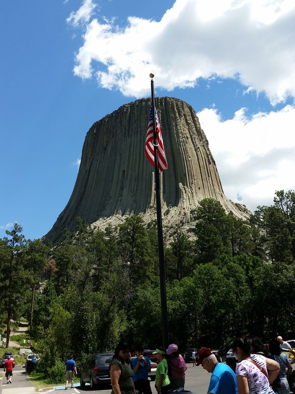 Devils Tower and Ole Glory  thumbnail