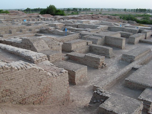 The ruins at Mohenjo-Daro, built by an ancient Indus Valley Civilization.