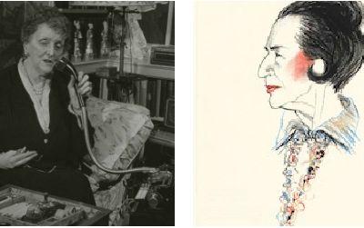 Emily Post (left): 1946, National Portrait Gallery. Diana Vreeland (right): 1989, National Portrait Gallery.