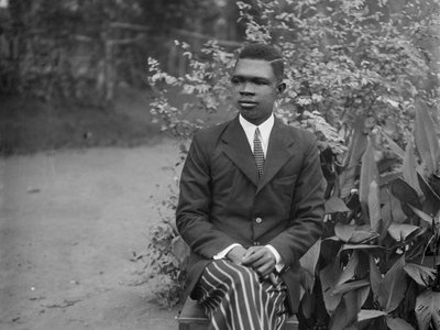 Nigerian photographer Solomon Osagie Alonge is the subject of a new exhibition at the African Art Museum. He took this self-portrait in 1942.
