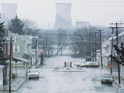 Middletown, Pennsylvania in 1979 in the wake of the Three Mile Island nuclear accident
