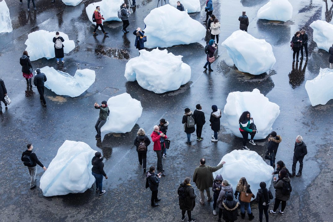 Straight From a Greenland Fjord, London Installation Sends Dire Message on Climate Change