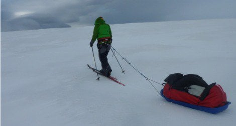 Felicity Aston, shown here in Iceland, is currently attempting cross Antarctica alone.