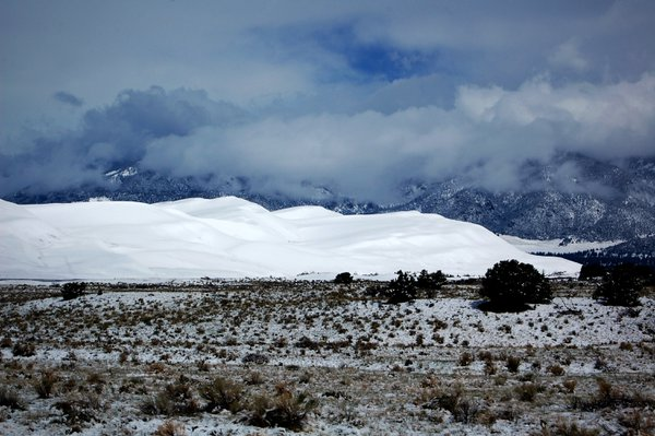 Early Morning Snow on Colorado's Great Sand Dunes.  thumbnail