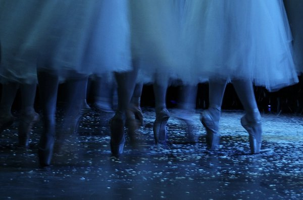 "Pointe Shoes of the Snow Scene-""The Nutcracker"" thumbnail"
