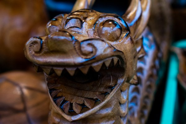 Hand-carved Dragon from Guam thumbnail
