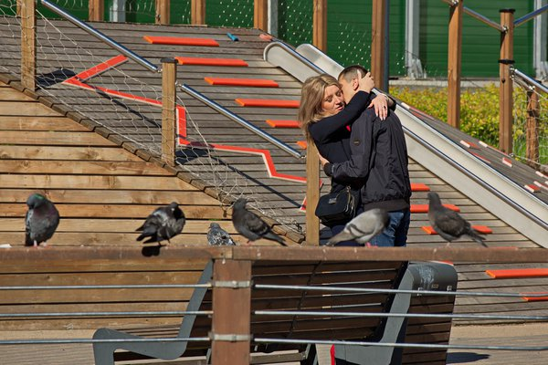 Lovers on the street. thumbnail