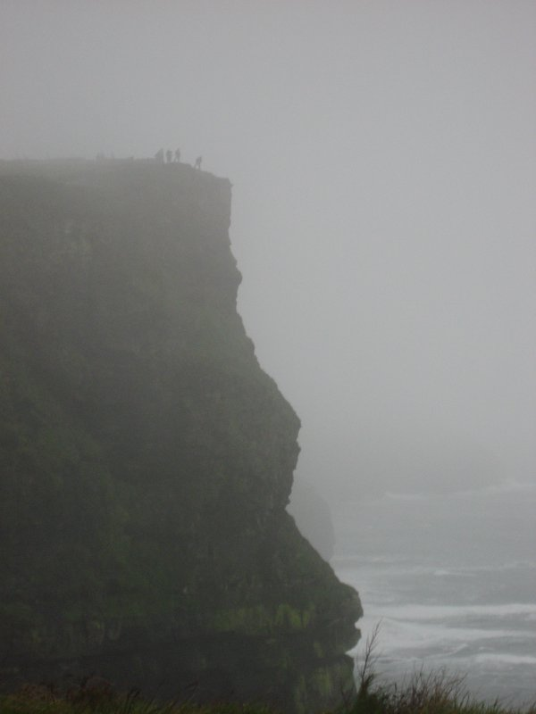 Risky tourists at the Cliffs of Moher thumbnail