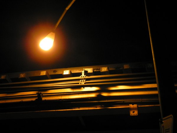 Streetlight, El tracks, Logan Square, Chicago, IL, U.S. thumbnail