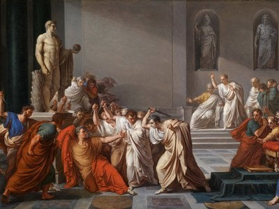 """""""Assassination of Julius Caesar"""" by Vincenzo Camuccini"""