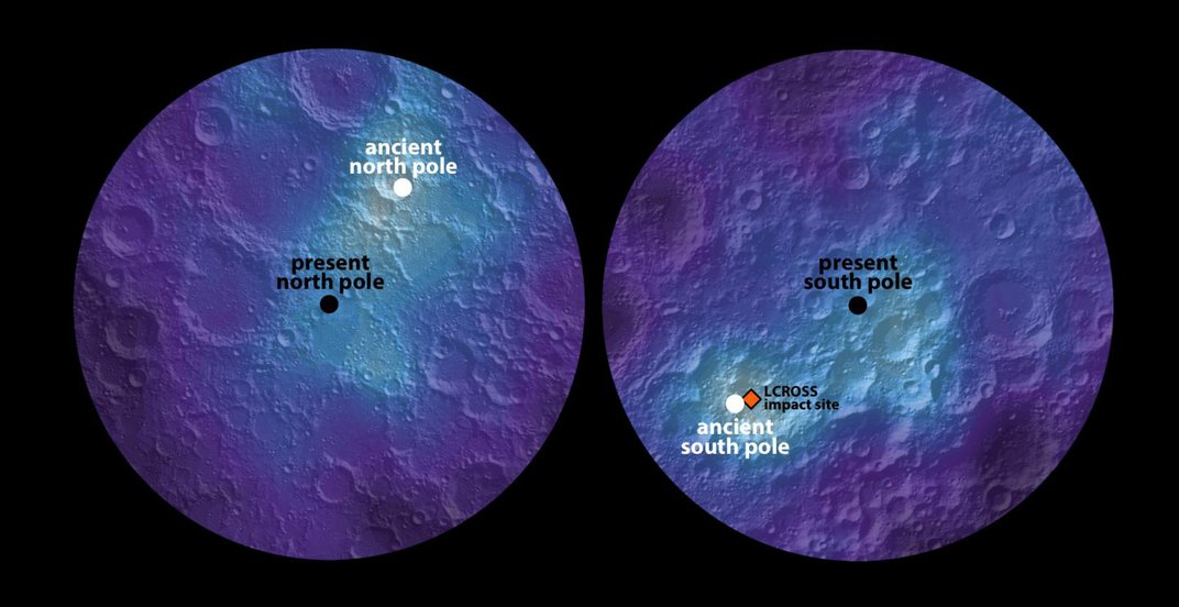 Ancient Volcanoes May Have Shifted the Moon's Poles