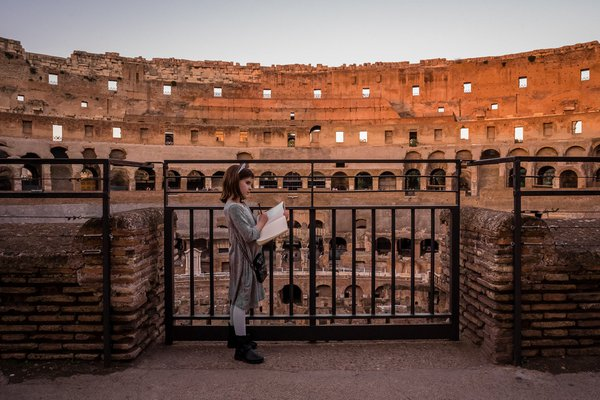 Documenting her Colosseum experience thumbnail
