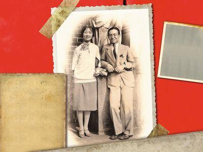 Lin Huiyin and Liang Sicheng on honeymoon in Europe
