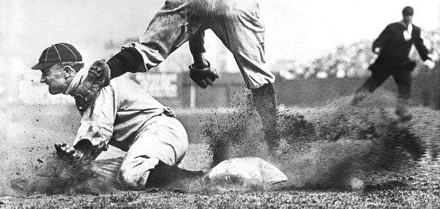 Ty Cobb sliding