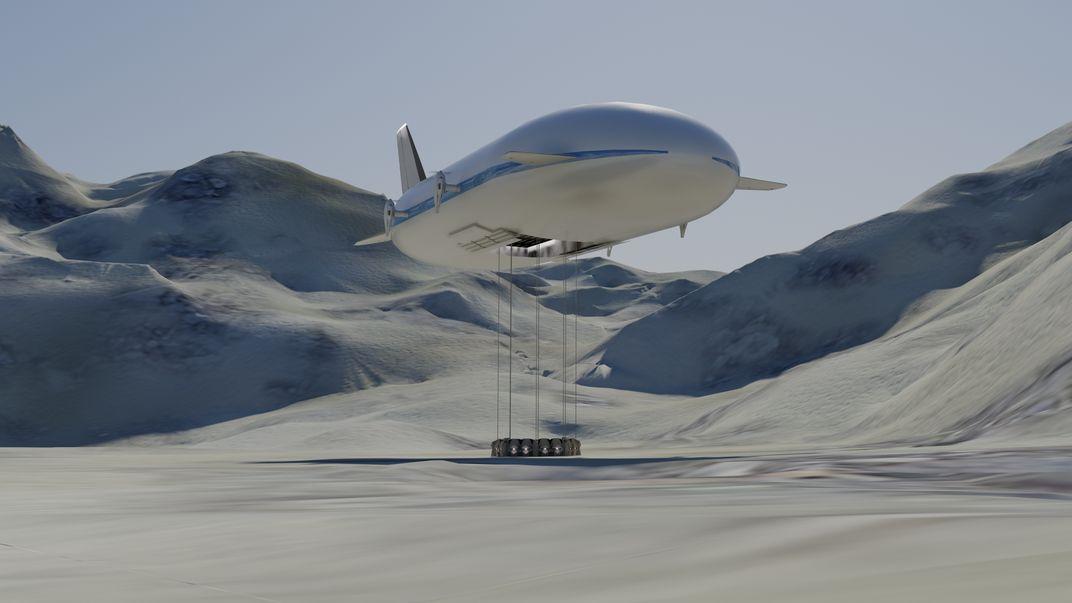 Concept art of the Aeroscraft ML866, via Aeroscraft