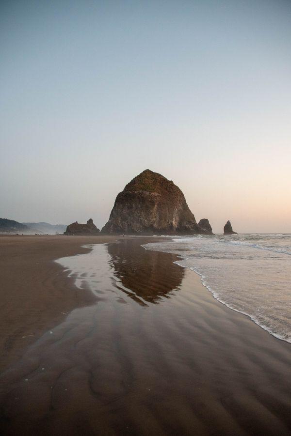 Summer Sunset at Cannon Beach, Oregon thumbnail