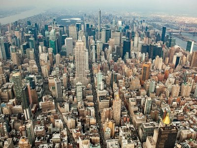 Concrete, a building block of our cities and towns, accounted for the most mass, followed by steel, gravel, brick and asphalt.
