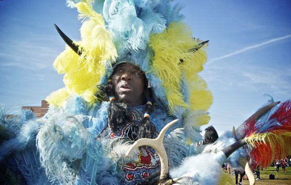Mardi Gras Indian at Super Sunday, New Orleans thumbnail