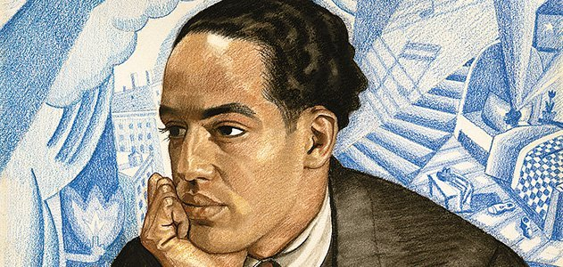 """Langston Hughes is one of the many poets featured in the National Portrait Gallery's """"Poetic Likeness"""" exhibition."""