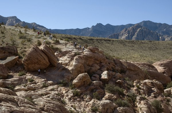 Geological formations at Red Rock Canyon, west of Las Vegas. thumbnail