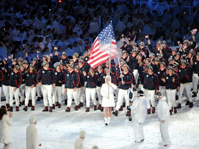 United States athletes at the Opening Ceremony of the 2010 Winter Olympics.