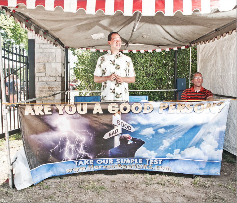 Religious Booth At Old Shawnee Days Festival