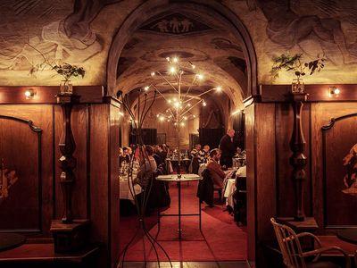 Stadshuskällaren is a restaurant located in Stockholm Sweden that serves historic menus from almost a century of Nobel Banquets.