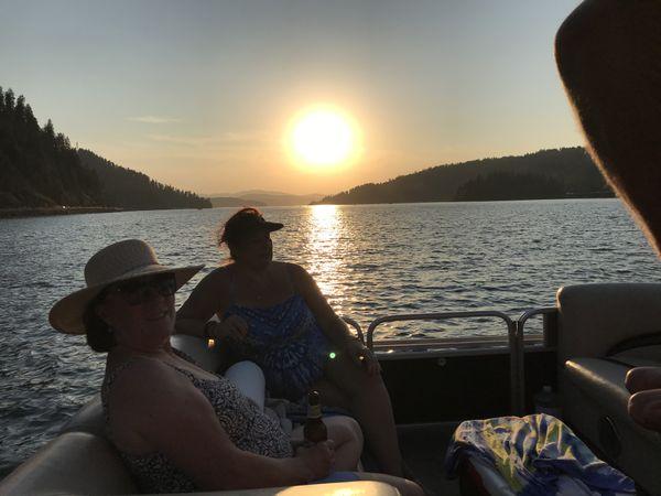Lake Coeur d Alene sunset thumbnail