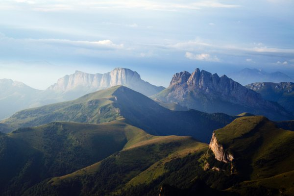 Dawn in the mountains of Adygea thumbnail