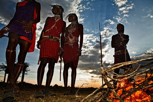 masais peoples in masai mara national park.kenia thumbnail