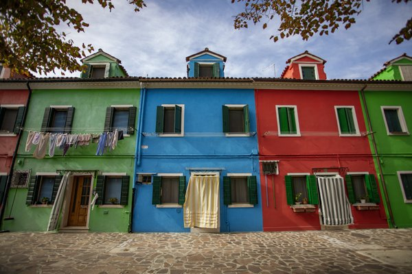 Colorful Houses On The Island Of Burano, Italy. thumbnail