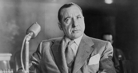 Frank Costello testifying before the Kefauver Committee in March 1951