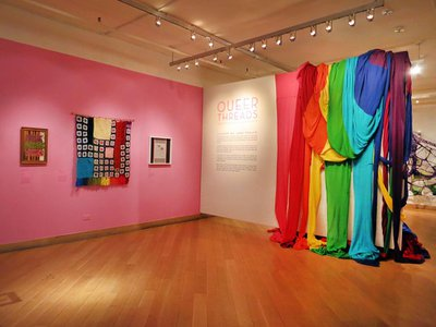 """The """"Queer Threads"""" exhibition, which ran in early 2014, examined the diversity of gay, lesbian, bisexual, transgender, and queer experiences."""
