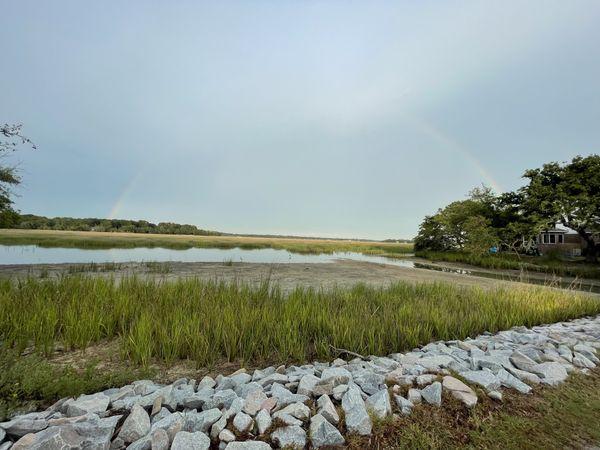 Full rainbow over marsh thumbnail