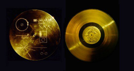 """The cover and record """"The Sounds of Earth,"""" included aboard the Voyager 1 and 2 probes."""