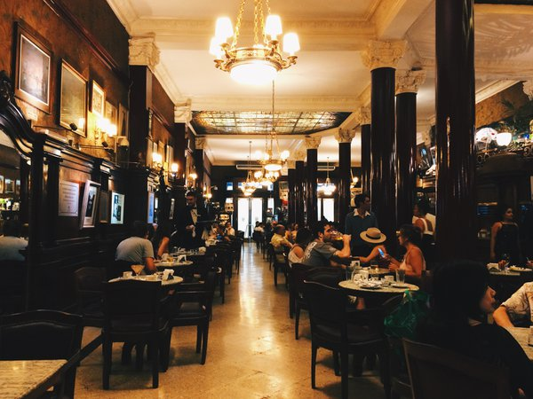 Inside Café Tortoni in Buenos Aires, Argentina thumbnail