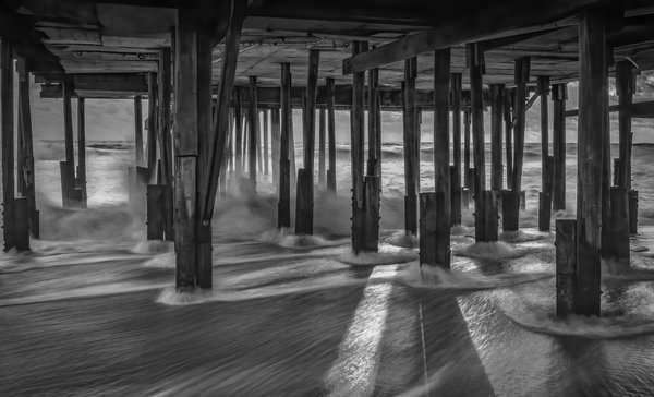 Under the Kitty Hawk pier in Outer Banks, North Carolina thumbnail