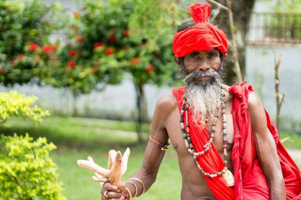 The monk at Lalon Shah mazar at Bangladesh thumbnail