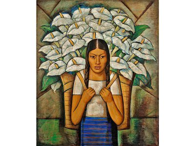Alfredo Ramos Martínez's 1929 Calla Lily Vendor is one of 200 works on view at the Whitney Museum by Mexican artists and the U.S. artists they influenced.