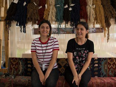 Sahkanush and Haykanush Stepanyan became experts at rugmaking while still teenagers.