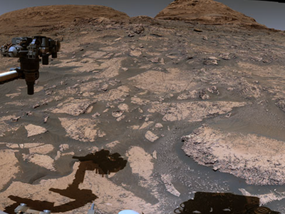 NASA stitched together 129 individual images taken with the rover's Mast Camera to create 360-degree panoramic vistas.
