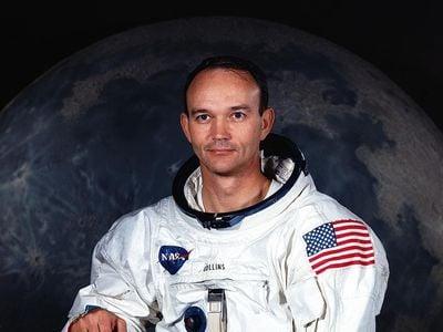 Michael Collins' NASA astronaut portrait.