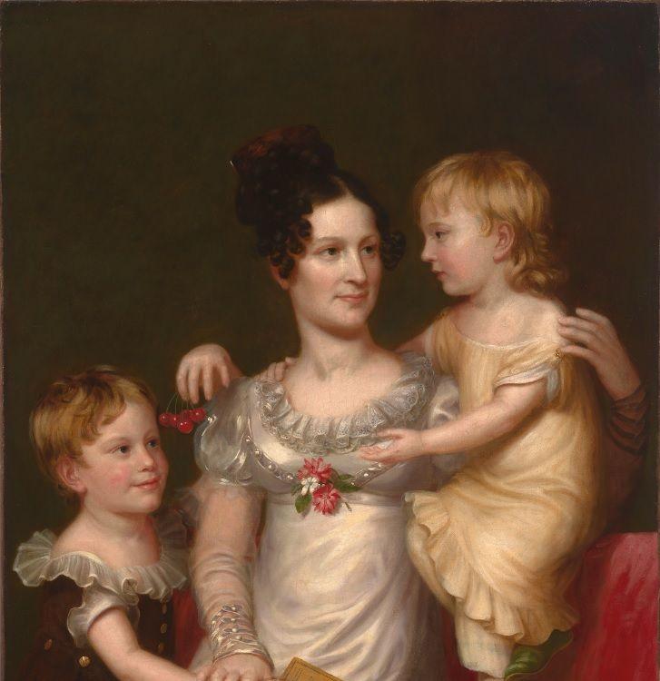 Sarah Weston Seaton with Her Children Augstine and Julia/ Charles Bird King / c. 1815 / National Portrait Gallery, Smithsonian Institution / Bequest of Armida B. Colt