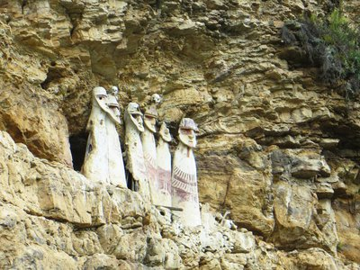 The body-shaped sarcophagi of Karajía contained the remains of high-ranking Chachapoya ancestors.