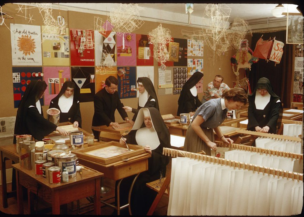 Immaculate Heart College Art Department, c. 1955