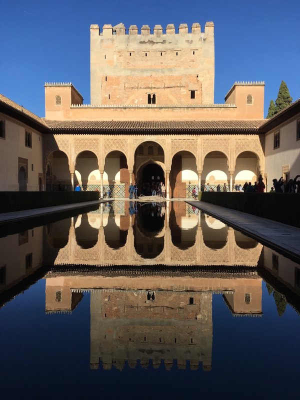 Courtyard of the Myrtles in the Nasrid Palaces of the Alhambra thumbnail
