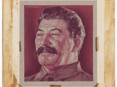 """Joseph Stalin"" Ernest Hamlin Baker 1939 Crayon on paper"