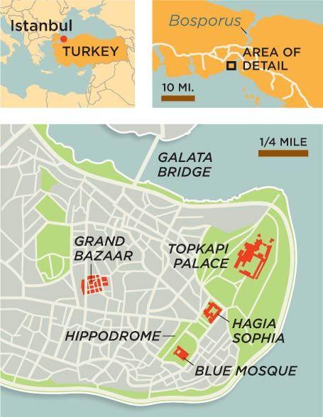 Istanbul Turkey map