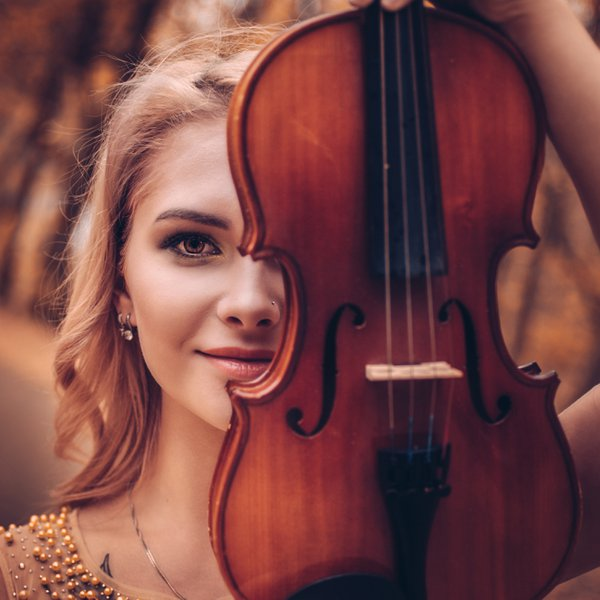 Autumn is dancing to the music of this violin. thumbnail